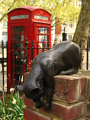Cat statue in Queen Square, Bloomsbury