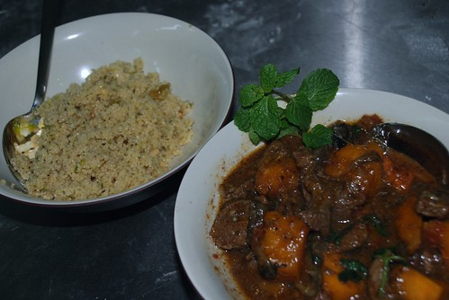 Cous Cous and cinnamon braised lamb