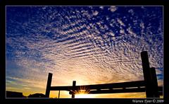 Sunset in Parklands (Warren T) Tags: park blue sunset sky cloud sun sunlight playground clouds evening bright capetown ripples lateafternoon skyascanvas