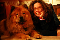 marcy and bruno (shboom) Tags: portrait woman dog comfortable bodylanguage fluffy relaxed regal chowchow
