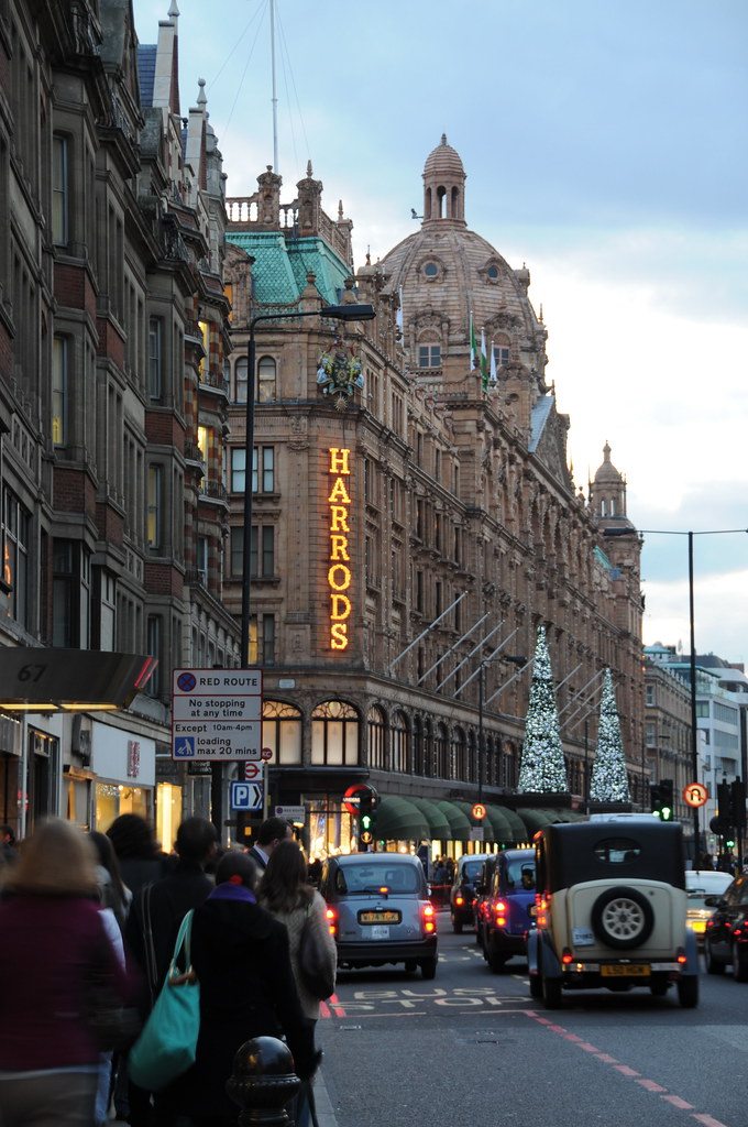 Harrods in the early evening