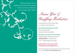 Wedding Invite back (annabellyeo) Tags: wedding red white black love beach anne geoff turquoise invitation swirl invite swirly