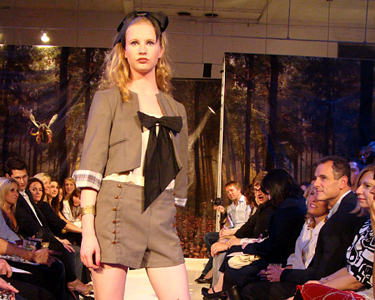 PED Runway Show: Alice Bows, Project Earth Day, Eco Project Runway, Eco Fashion Show, Eco Fashion Runway Show