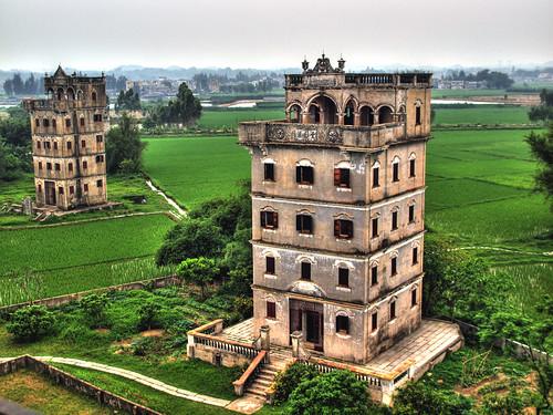 [フリー画像] 建築・建造物, 開平楼閣と村落, 世界遺産, 中華人民共和国, 201107041900