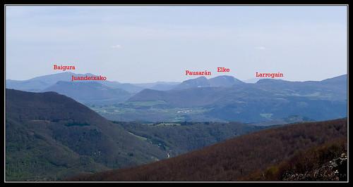 Sierras de Osa y Labia desde el Eguide