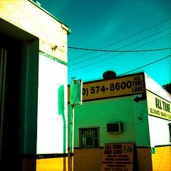 all tune. venice, ca. 2009. (eyetwist) Tags: california blue venice 6 signs 120 6x6 mamiya film sign yellow contrast mediumformat square typography la losangeles los xpro crossprocessed cross angeles crossprocess ishootfilm motors socal signage type letter brakes venicebeach alphabet mamiya6 process ektachrome processed mechanic e100vs 2009 westla transmissions typographic 90291 emulsion oilchange supersaturated yeal lincolnblvd primes epson4990 kodakektachromee100vs angeleno 100vs eyetwist 6mf mamiya6mf tuneups ishootkodak c41crossprocess recentlyprocessedfilm filmexif filmtagger eyetwistkevinballuff alltuneandlube ishootfilmmamiya ws