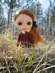 Aly in forest