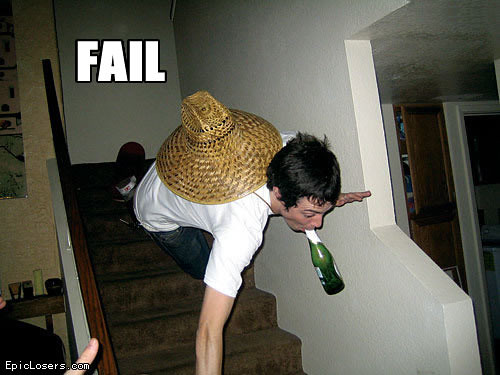 Fail Right Off Stairs