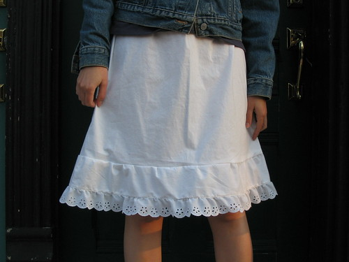 knee-length prairie skirt