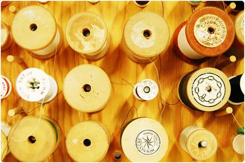Wood spools (Copyright Hanna Andersson)