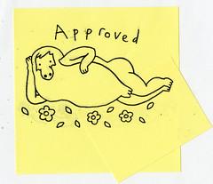 Pendleton Ward aproval stamp, original art