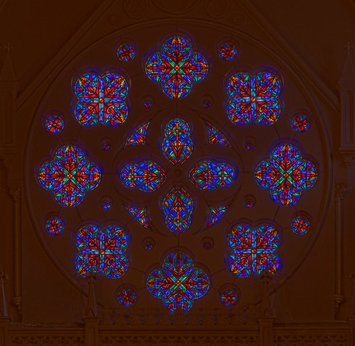 Saint Francis Xavier (College) Church, at Saint Louis University, in Saint Louis, Missouri, USA - rose window