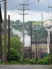Braddock PA: View of Kennywood (KatrencikPhotoArchives) Tags: pittsburgh pa 2009 braddock katrencik