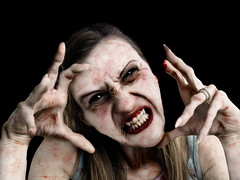Nightmare Queen (McCarthy's PhotoWorks) Tags: portrait halloween face monster female dead scary blood vampire zombie ghost hell evil eerie spooky horror terror demon undead nightmare demonic horrible creature vamp sucker possessed fright ghoul terrifying frightening gettyimagesmalta1