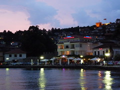Ohrid by night (jelisaveta21) Tags: water reflections landscape macedonia ohrid balkan lakeohrid mcct thebeautyofmacedonija