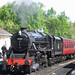 45407 The Lancashire Fusilier getting ready to leave Grosmont at 1030 for Goathland on 8th May 2009