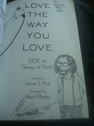 Me, as sketched by Marc Ellerby in his Love the way you love