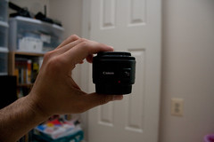 The EF 50mm f1.8 II is pretty tiny