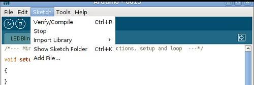 Arduino Sketch - Verify/Compile