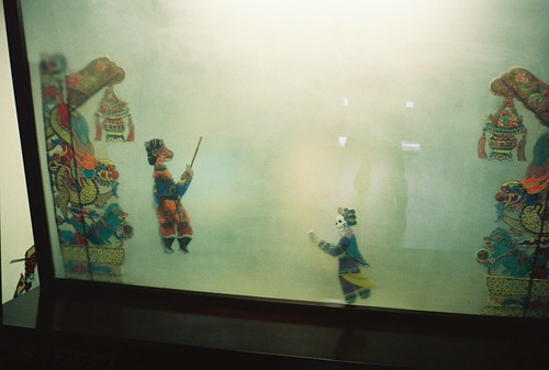 Shadow puppets in Qibao