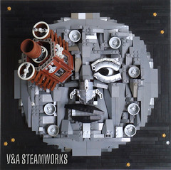 Le Voyage dans la lune - V&A Steamworks (V&A Steamworks) Tags: trip fiction moon white black film french lego g wells science h va jules steamworks steampunk verne a georgesmlis
