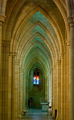 Internal Sandstone Architecture and Stained Glass Windows (Craig Jewell Photography) Tags: roof color colour church window stone architecture 50mm sandstone colorful arch cross cathedral iso400 gothic style stjohns arches stainedglass noflash ceiling stained colourful vaulted neogothic f28 anglican revival gothicrevival 120sec smcpfa50mmf14 smcpentaxfa50mmf14 20081021094520imgp7161edit craigjewellphotography