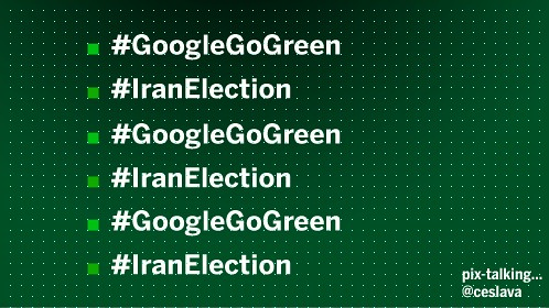 #iranelection #googlegogreen