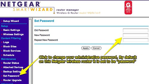 NETGEAR Router - Change admin password