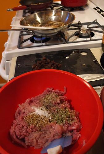 making turkey burgers