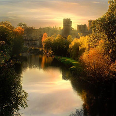 Back in Time (digitalpsam) Tags: sunset england castle art beautiful fairytale spectacular ancient magic surreal atmosphere serene warwickcastle mywinners specialpicture thesuperbmasterpiece sammatta