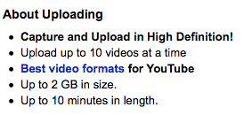 YouTube 2GB File Size Limit?