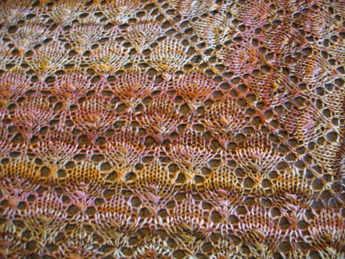handspun forest canopy shawl