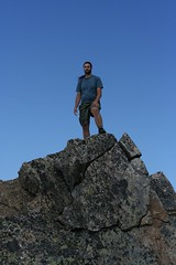Dane on the summit of Sperry Peak