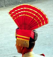 Head Gear (Dolly Sapra) Tags: red fan head border gear cap bsf amritsar headgear wagha jawan