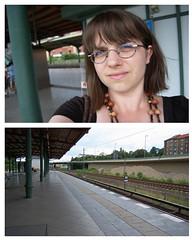 public transportation (InsideMyShell) Tags: selfportrait berlin diptych publictransportation 365 day4 2009 unravelling july5 365days unravelling365
