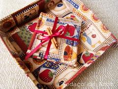 Um presente de ltima hora! (Pedao de Amor) Tags: canela coasters tecido cestinha pedaodeamor tutorialcasaalmare presentedeltimahora