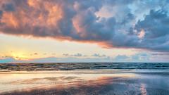 the sea is just a wetter version of the skies (pixelmama) Tags: ocean sky beach clouds sunrise sand texas foldingchair gettyimages padreisland reginaspektor padreislandnationalseashore chasinglight gufofmexico pixelmama comeandopenupyourfoldingchairnexttome myfeetareburiedinthesandandtheresabreeze theseaisjustawetterversionoftheskies lifeisbeachy