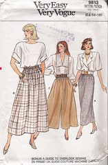 Vogue 9813 (Artdoodads.etsy) Tags: fashion vintage pattern pants sewing crafts craft sew skirt retro vogue culottes supplies 1980s supply dirndl misses plussize sewingpattern straightskirt 9813 dirndlskirt