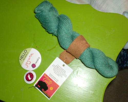 Green Buffalo Gold bison silk cashmere yarn