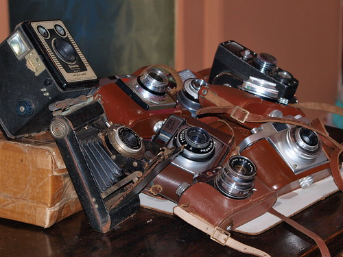 Old cameras. Photo by johnb/uk on Flickr