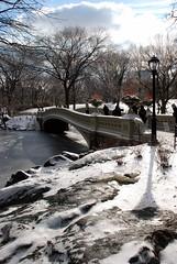 Central Park Bow Bridge (seth_holladay) Tags: nyc winter snow newyork centralpark manhattan january gothamist 2009