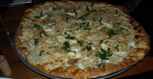 Spinach and Chevre Pizza