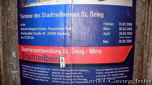 Kommunale Litfaßsäule in Hamburg St. Georg