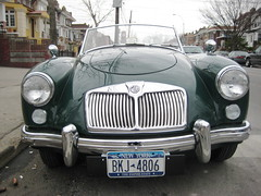 Green MG in Astoria (ChrisGoldNY) Tags: nyc newyorkcity newyork green cars forsale mg queens astoria albumcover gothamist bookcover qns chrisgoldny chrisgoldberg chrisgold chrisgoldphotos