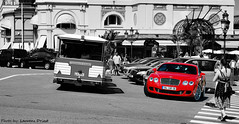 Bentley Continental Gt Speed (Laurens Driest) Tags: red sea summer england white black france colour speed lens nikon united engine continental kingdom casino monaco gran carlo monte 1855 gt nikkor 2008 turismo bentley w12 selective