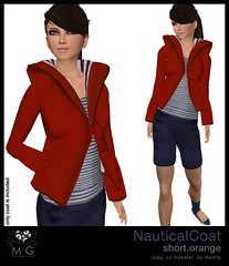 [MG fashion] NauticalCoat.short.orange