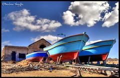 Mother, Father & Son ! (Bashar Shglila) Tags: old sea sky beach clouds boat fishing libya libyen sabratha lbia libi libiya aplusphoto liviya libija  grouptripod    lbija  lby libja lbya liiba livi