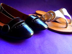 new shoes (jodie nicholson) Tags: black cute comfortable silver shoes flats button buckle