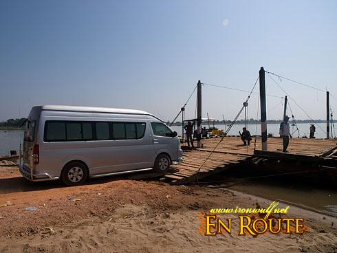 Wat Phu Crossing Mekong River