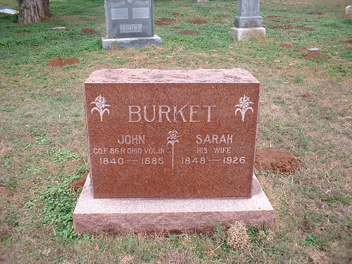 Tombstone-John & Elizabeth Burket